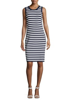 MICHAEL Michael Kors Striped Tank Sheath Dress
