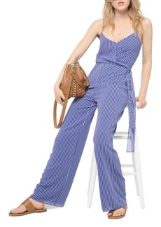 MICHAEL Michael Kors Striped Tie-Detail Georgette Jumpsuit