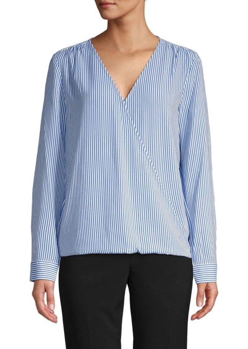 MICHAEL Michael Kors Striped Wrap Top