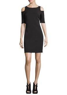 MICHAEL Michael Kors Structured Bateau-Neck Cold-Shoulder Dress