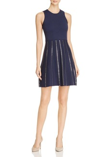 MICHAEL Michael Kors Stud-Detail Fit-and-Flare Dress