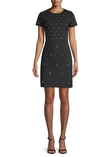 MICHAEL Michael Kors Stud Sheath Dress