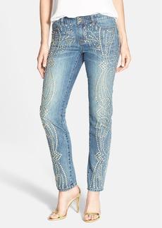 MICHAEL Michael Kors Studded Ankle Boyfriend Jeans (Medium Vintage)