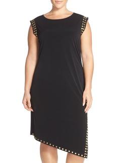 MICHAEL Michael Kors Studded Asymmetrical Shift Dress (Plus Size)