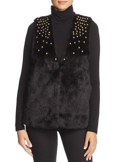 Michael Michael Kors Studded Faux-Fur Vest
