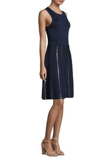 MICHAEL MICHAEL KORS Studded Fit-&-Flare Dress