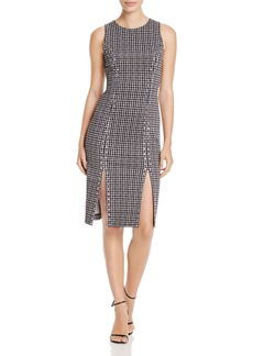 MICHAEL Michael Kors Studded Houndstooth Dress