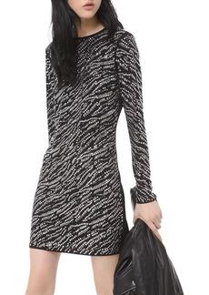 MICHAEL Michael Kors Studded Long-Sleeve Mini Dress