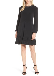 MICHAEL Michael Kors Studded Neck A-Line Dress
