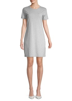 MICHAEL Michael Kors Studded Short Sleeve Shift Dress