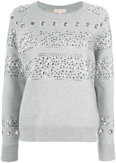 Michael Michael Kors studded sweatshirt - Grey
