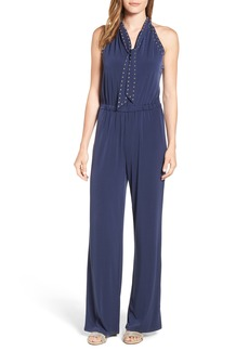 MICHAEL Michael Kors Studded Tie Neck Jumpsuit