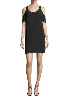 MICHAEL Michael Kors Studded-Trim Cold-Shoulder Dress