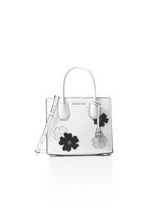 MICHAEL Michael Kors Studio Mercer Studded Floral Medium Leather Messenger