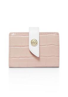 MICHAEL Michael Kors Tab Mini Embossed Leather Card Case
