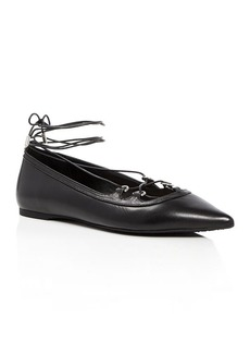 MICHAEL Michael Kors Tabby Lace Up Pointed Toe Ballet Flats