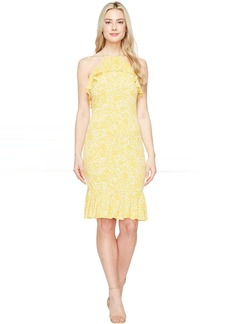MICHAEL Michael Kors Tansy Halter Flounce Dress