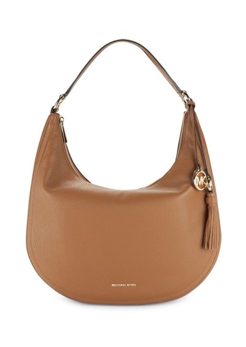 Michael Kors Tassel Leather Hobo Bag