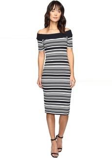 Texture Pique Off Shoulder Dress