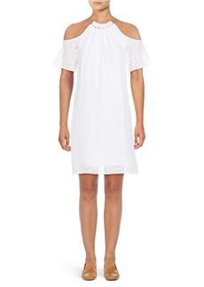 MICHAEL MICHAEL KORS Textured Cold-Shoulder Dress