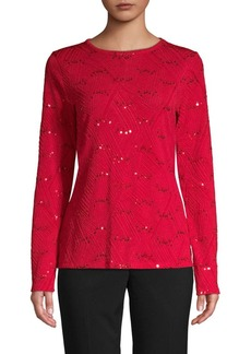 MICHAEL Michael Kors Textured Embellished Top