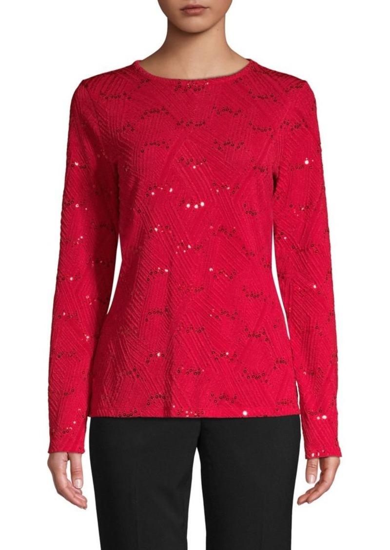 MICHAEL Michael Kors Textured Embellished Top