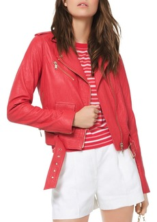 MICHAEL Michael Kors Textured Moto Jacket