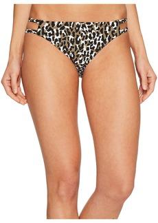 MICHAEL Michael Kors Thora Leopard Double Strap Bikini Bottom