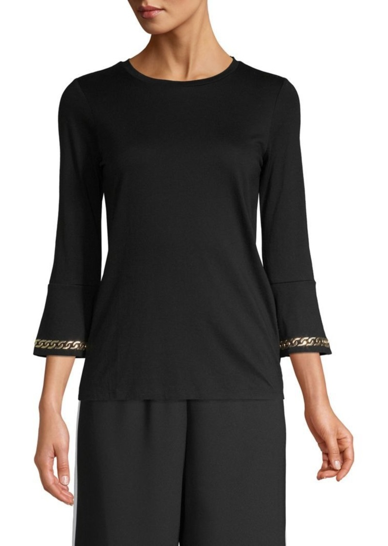 MICHAEL Michael Kors Three-Quarter Sleeve Crewneck Top