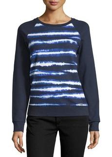 MICHAEL Michael Kors Tie-Dye Stripe Raglan Sweater