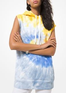 MICHAEL Michael Kors Tie Dyed Sleeveless Cotton Hoodie