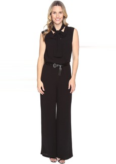 MICHAEL Michael Kors Tie Neck Wide Leg Jumpsuit