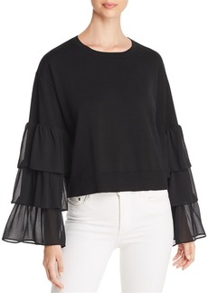 MICHAEL Michael Kors Tiered Contrast-Sleeve Sweater