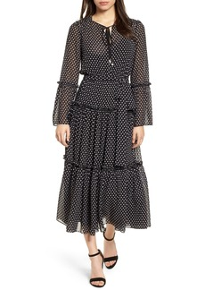MICHAEL Michael Kors Tiered Dot Boho Dress