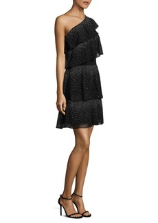 MICHAEL Michael Kors Asymmetric Tiered Dress