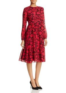 MICHAEL Michael Kors Tiered Garden-Print Dress