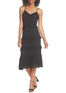 MICHAEL Michael Kors Tiered Ruffle Midi Dress