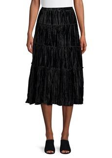 MICHAEL Michael Kors Tiered Velvet Midi Skirt