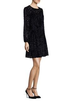 MICHAEL MICHAEL KORS Tiger Print Velvet Dress