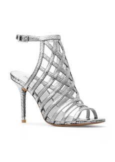 MICHAEL Michael Kors Trinity Metallic Embossed Caged High Heel Sandals