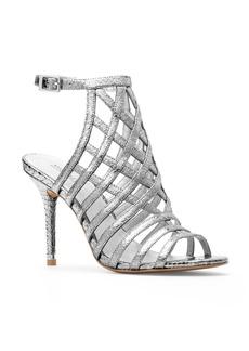 MICHAEL Michael Kors Trinity Metallic Embossed Caged High Heel Sandals