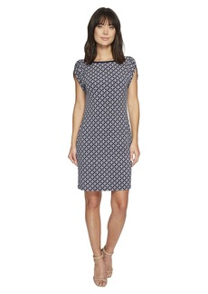 MICHAEL Michael Kors Tulip Sleeve Rope Geo Dress