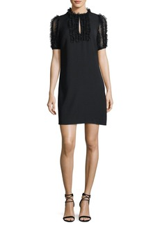 MICHAEL Michael Kors Tulle-Ruffle Shift Dress