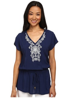 MICHAEL Michael Kors Tunic Drawstring Top