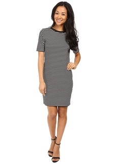 MICHAEL Michael Kors Turner Stripe Crew Neck Dress