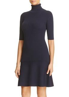 MICHAEL Michael Kors Turtleneck Flared Sweater Dress