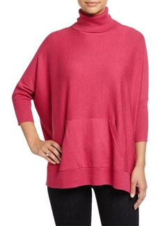 MICHAEL Michael Kors Turtleneck Poncho Sweater W/ Pockets