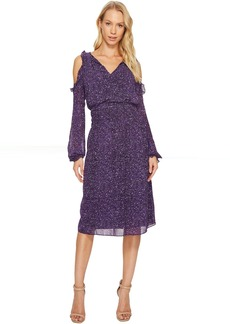 MICHAEL Michael Kors Tweed Cold Shoulder Dress