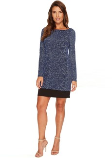 MICHAEL Michael Kors Tweed Long Sleeve Border Dress