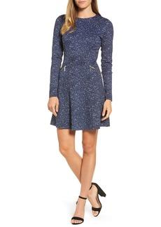 MICHAEL Michael Kors Tweed Print A-Line Dress